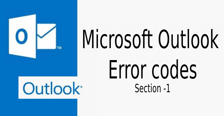 Outlook error codes