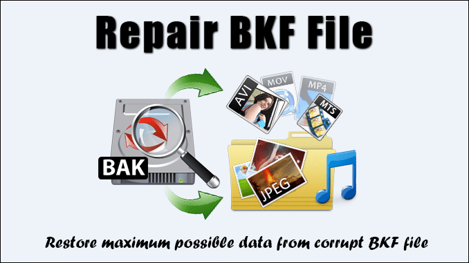 USE THIRD PARTY BKF FILE RECOVERY FREEWARE