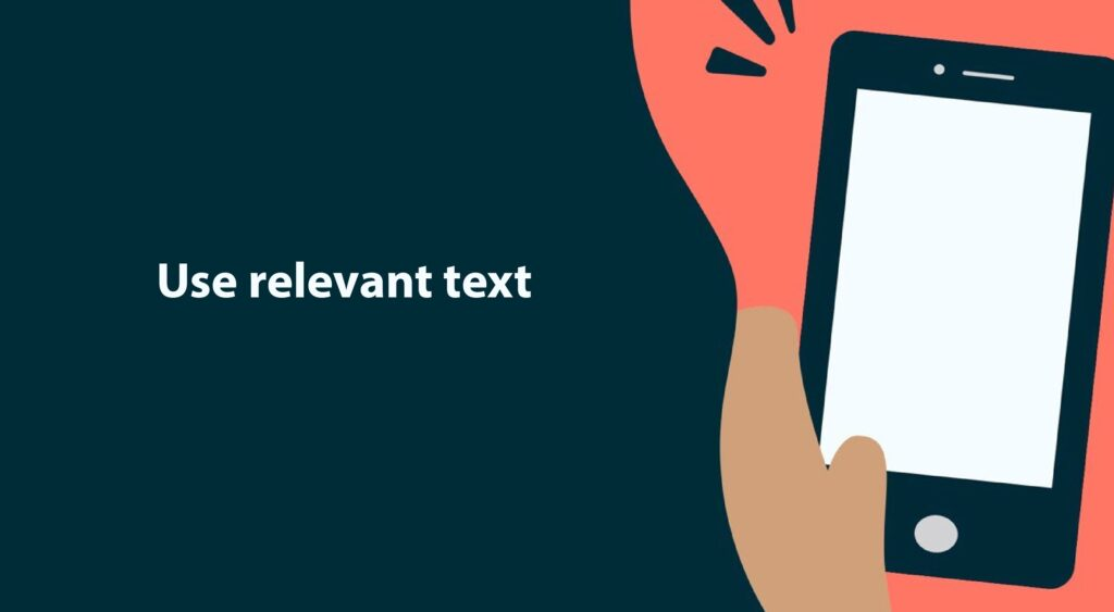 Use relevant text