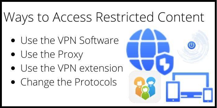 ways to access block content online