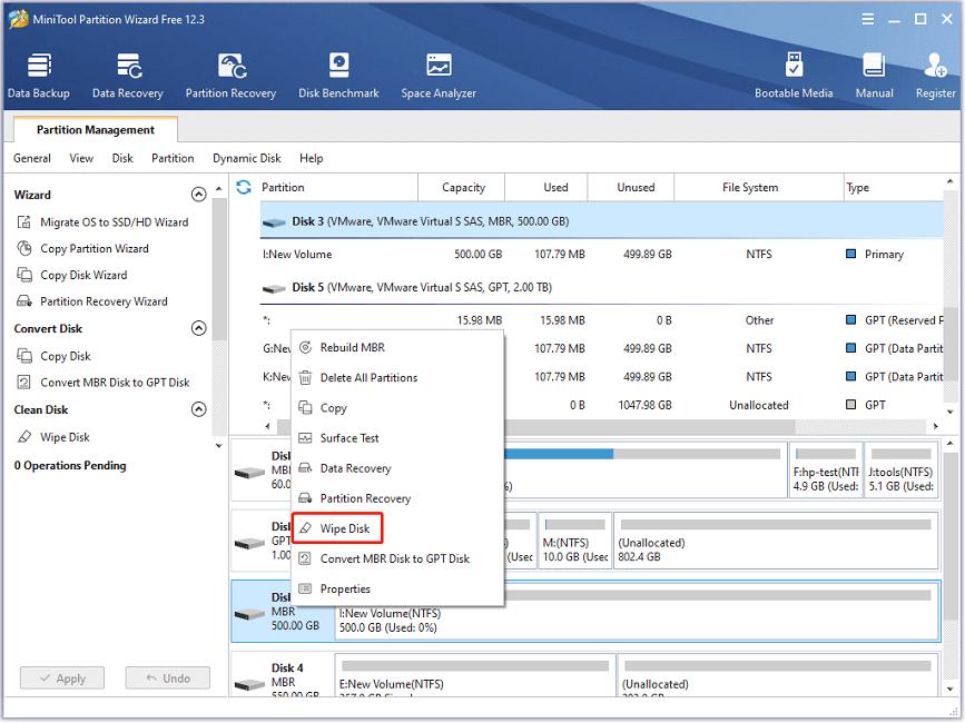 Erase Data on Hard Drive