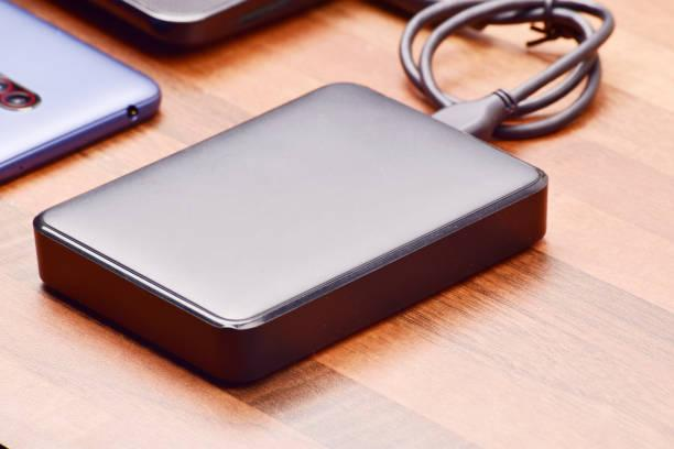 Transferring data to hard disk, external hard disk drive